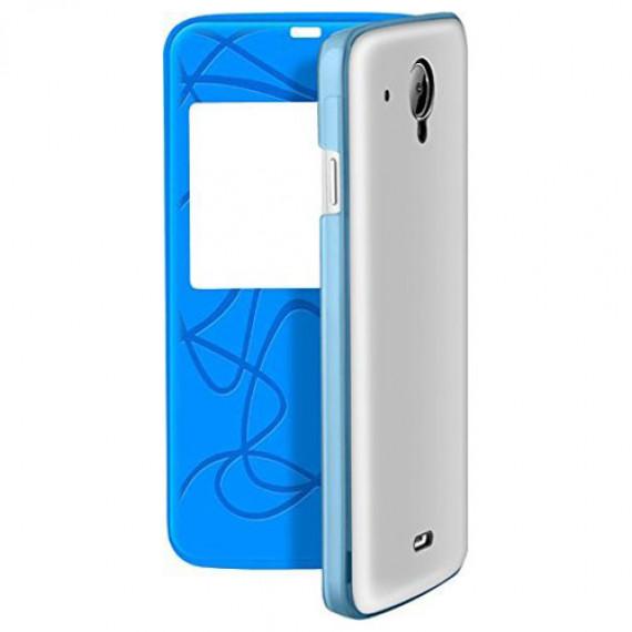 Infinix Flip Case Smart Cover Bleu/Blanc X505