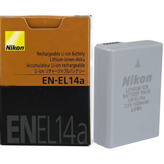 Nikon EN-EL14a - Accu Lithium-Ion compact et rechargeable (pour D3300 / D5300)