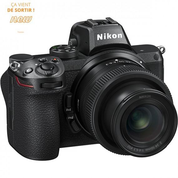 Nikon Appareil photo Hybride  Z5 + 24 -50mm + Bague d'adaptation FTZ