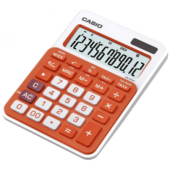 Casio MS-20NC Orange  - Calculatrice de poche et de bureau