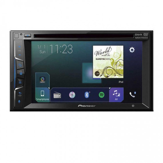 "Pioneer Pioneer AVH-Z2000BT - Lecteur multimédia CD / DVD / DivX MP3 écran tactile 6.2"", USB, compatible Bluetooth, Android, iPod/iPhone, AppRadio Mode+ Waze et Apple CarPlay"