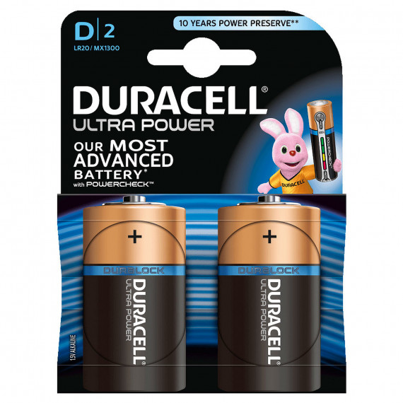 Duracell Ultra Power D (par 2)