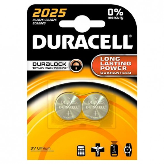 Duracell Typ 2025 Lithium Knopfbatterie