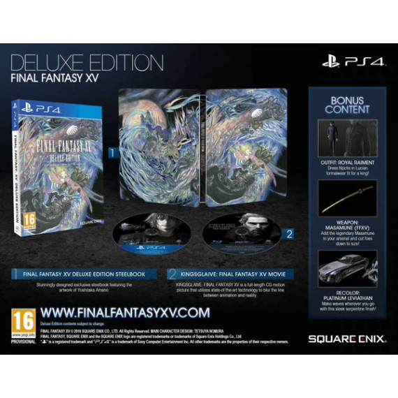 Square Enix Final Fantasy XV - Deluxe Edition (PS4)