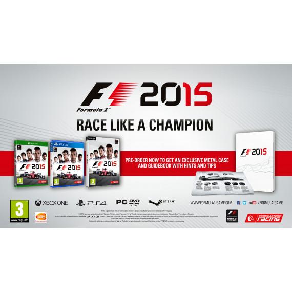 Bandai Namco Games F1 2015 (PS4) (Pré-commande - Sortie le 10 Juillet 2015)