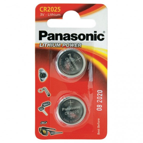 Panasonic Knopfzellen CR2025L/2BP