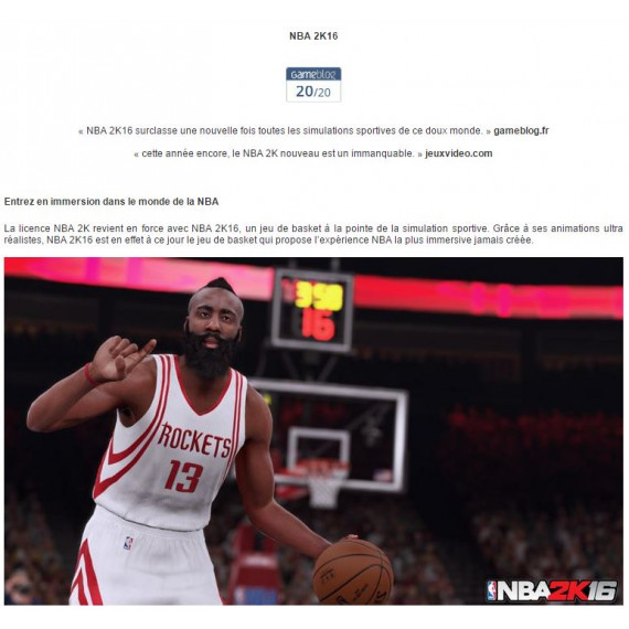 Take-Two NBA 2K16 (PC)
