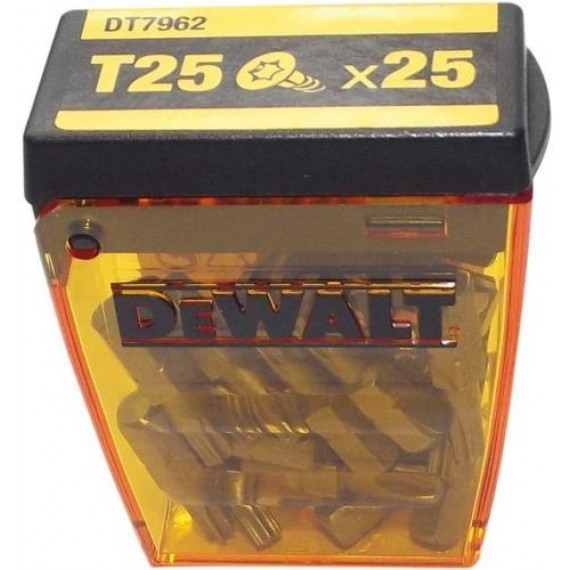 Embout de vissage DeWalt Tic Tac Box DT7962-DE Torx Bits T25