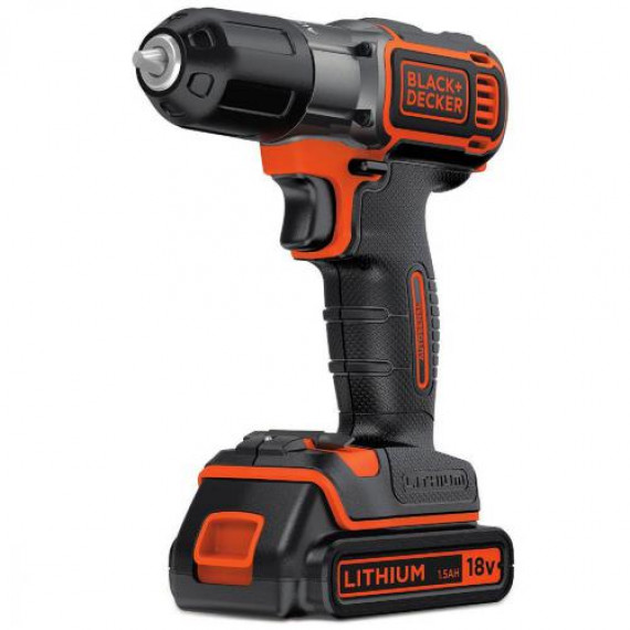 BLACK & DECKER Perceuse Sans Fil Autosense 18 V Lithium ASD184KB