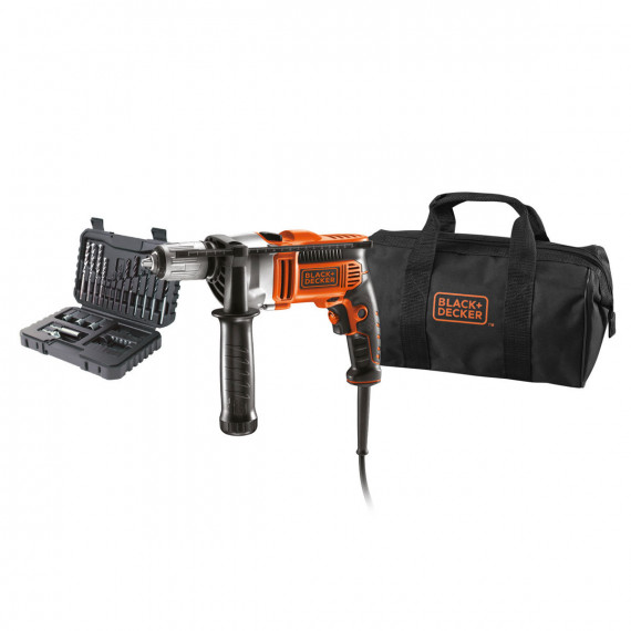 BLACK & DECKER Perceuse à percussion 750 W livrée avec le sac de transport