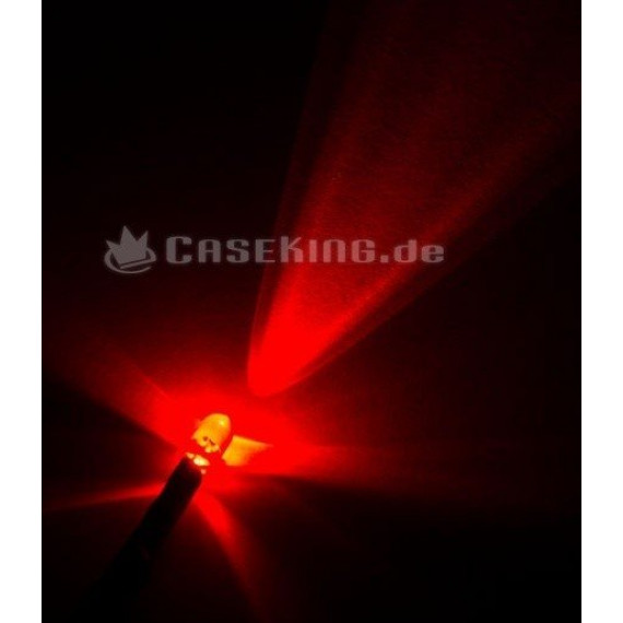 XSPC L'unité LED 5 mm avec connecteur d'alimentation SATA - rouge