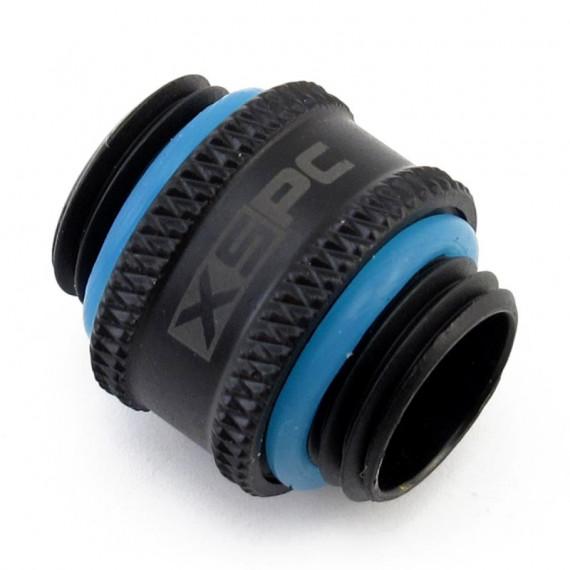 XSPC 10mm adaptateur 2x G1 / 4 pouce filetage extérieur V2 - noir mat