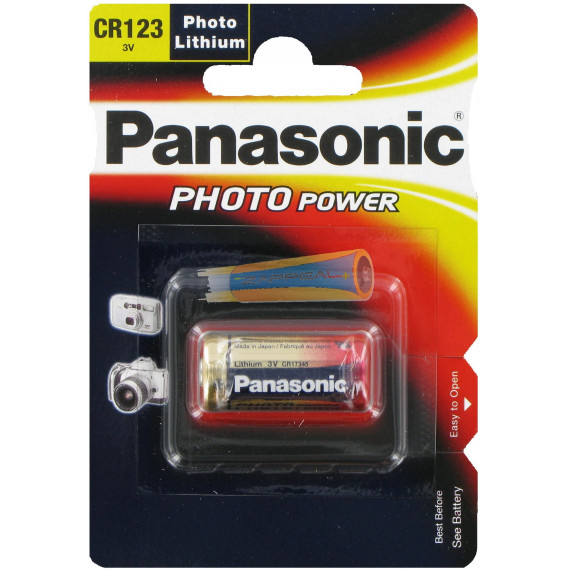 Panasonic Lithium Photo CR123AL/1BP