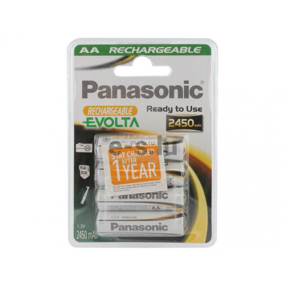 PANASONIC Rechargeable Evolta HHR-3XXE/4BC