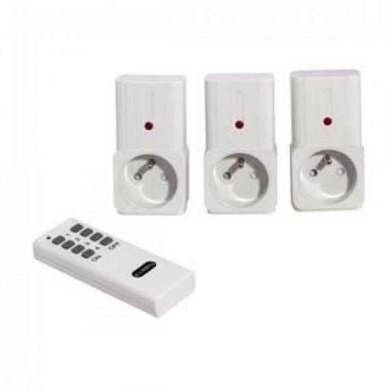 CHACON CHACON Kit de 3 prises télécommandées on/off avec télécommande 2000W