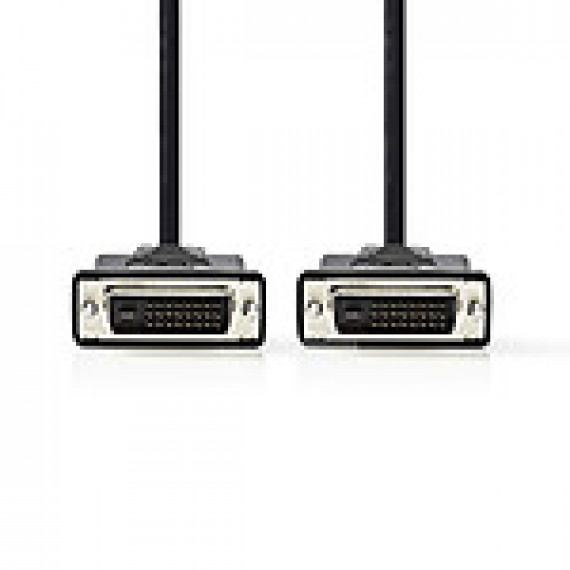 Nedis Câble DVI DVI-D Mâle à 24 + 1 Broches - DVI-D Mâle à 24 + 1 Broches 10 m Noir