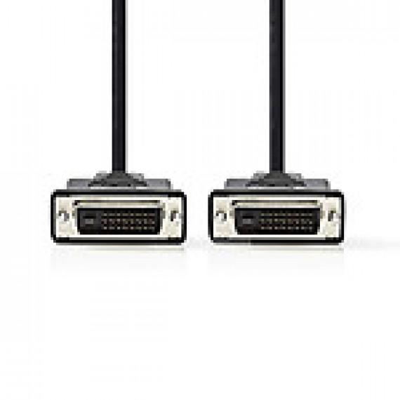 Nedis Câble DVI DVI-D Mâle à 24 + 1 Broches - DVI-D Mâle à 24 + 1 Broches 3,0 m Noir