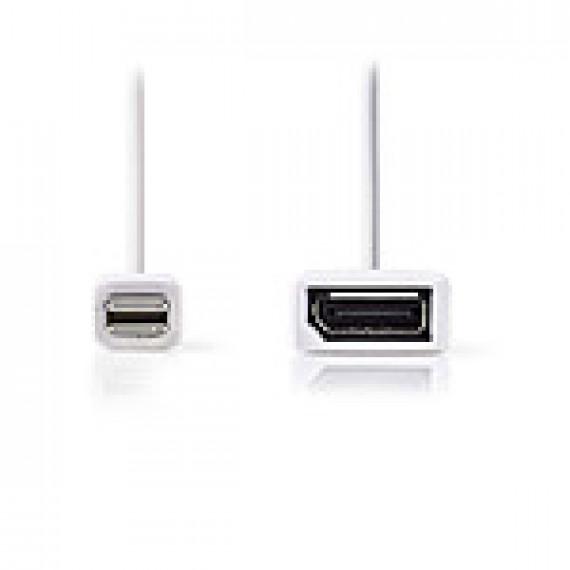 Nedis Câble Mini DisplayPort vers DisplayPort Mini DisplayPort Mâle - DisplayPort Femelle 0,2 m Blanc