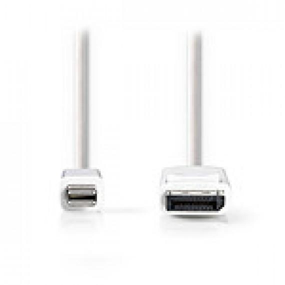 Nedis Câble Mini DisplayPort vers DisplayPort Mini DisplayPort Mâle - DisplayPort Mâle 2,0 m Blanc