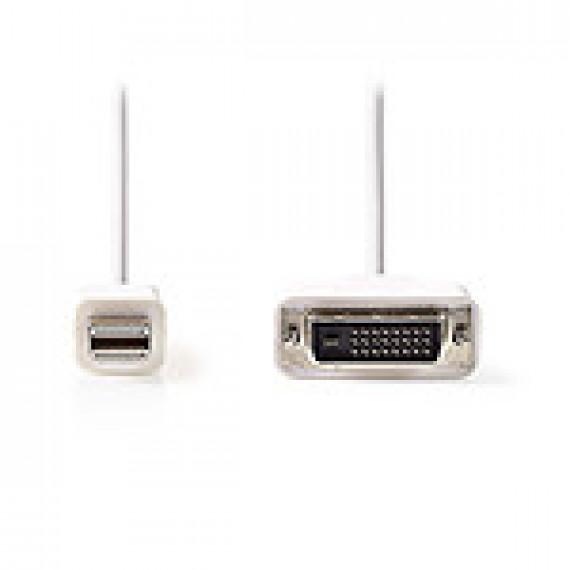 Nedis Câble Mini DisplayPort vers DVI Mini DisplayPort Mâle - DVI-D Mâle à 24 + 1 Broches 2,0 m Blanc