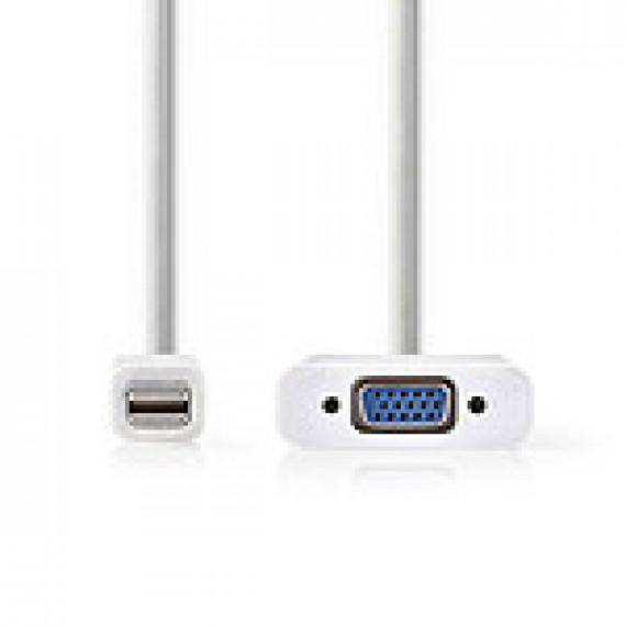 Nedis Câble Mini DisplayPort vers VGA Mini DisplayPort Mâle - VGA Femelle 0,2 m Blanc