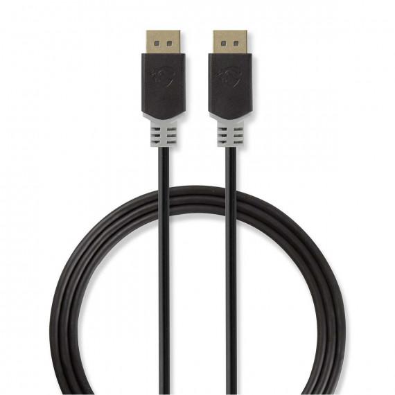 Nedis Câble DisplayPort DisplayPort Mâle - DisplayPort Mâle 2,0 m Anthracite