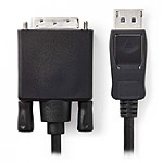 Nedis Câble DisplayPort vers DVI DisplayPort Mâle - DVI-D Mâle à 24 + 1 Broches 3,0 m Noir