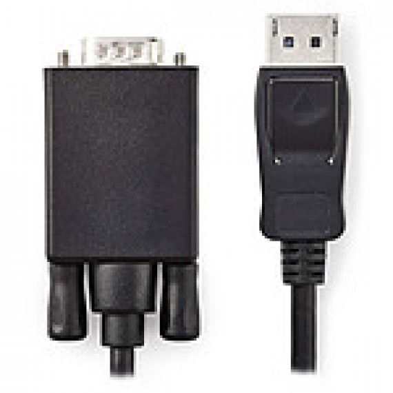 Nedis Câble DisplayPort vers VGA DisplayPort Mâle - VGA Mâle 1,0 m Noir