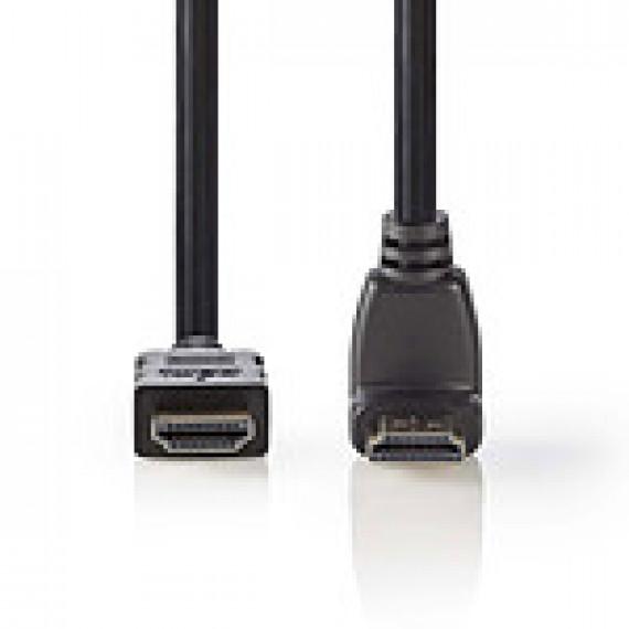 Nedis Nedis Câble HDMI coudé à 90° haute vitesse avec Ethernet Noir (1.5 mètre)