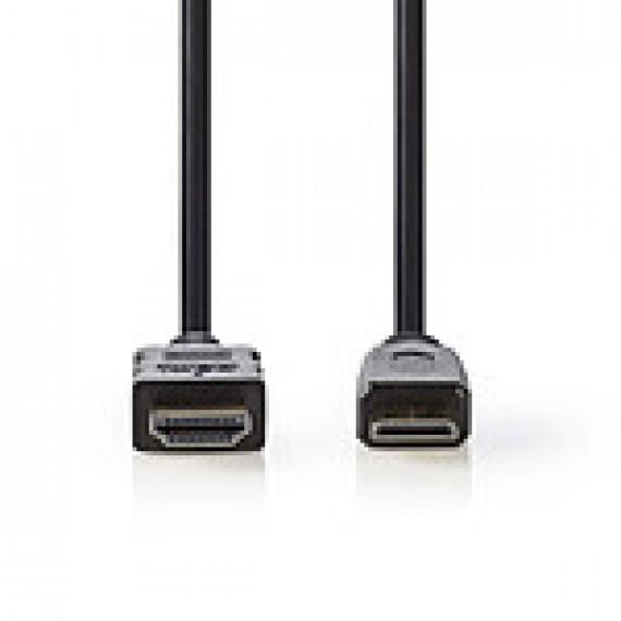 Nedis Nedis Câble Mini HDMI mâle / HDMI mâle haute vitesse avec Ethernet Noir (1.5 mètre)