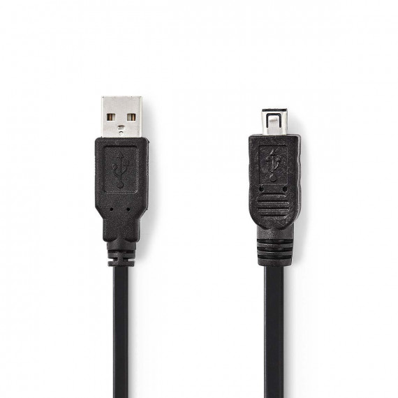 Nedis Câble USB 2.0 A Mâle - Mini Hirose Mâle à 4 Broches 2,0 m Noir