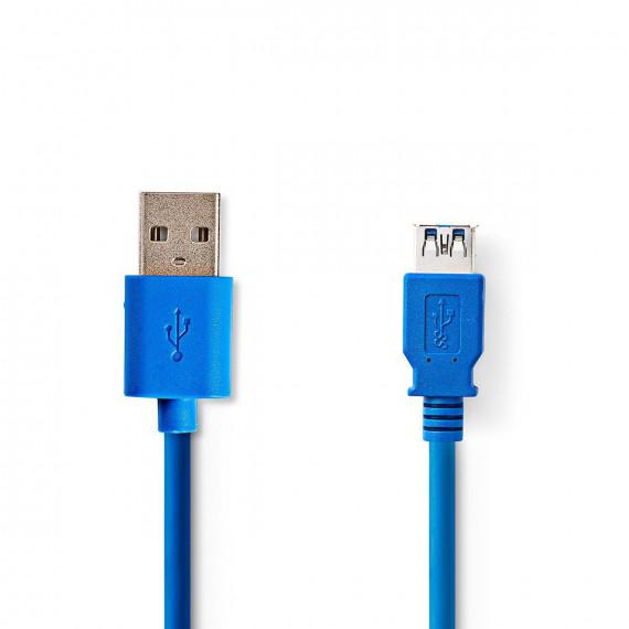 Nedis Câble USB 3.0 A Mâle - A Femelle 3,0 m Bleu