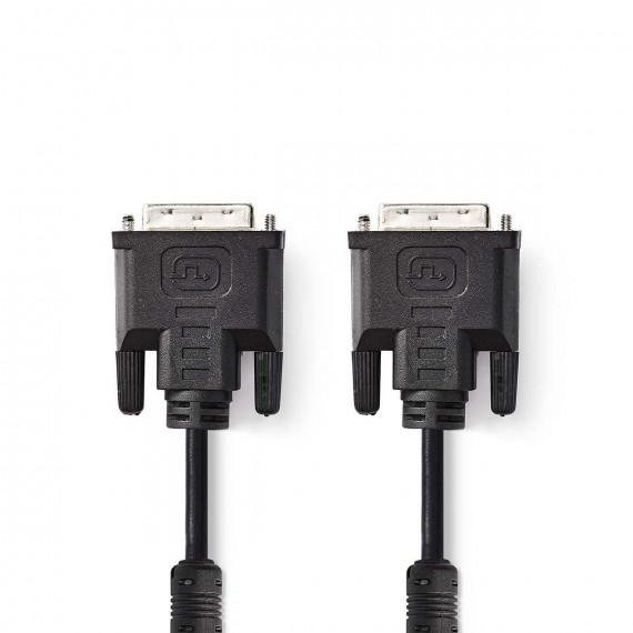 Nedis Câble DVI DVI-I Mâle à 24 + 5 Broches - DVI-I Mâle à 24 + 5 Broches 2,0 m Noir