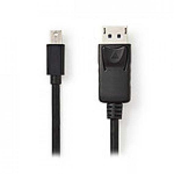 Nedis Câble Mini DisplayPort vers DisplayPort Mini DisplayPort Mâle - DisplayPort Mâle 3,0 m Noir