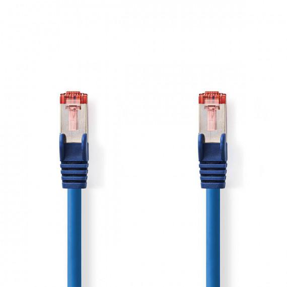 Nedis Câble Réseau Cat 6 S/FTP RJ45 Mâle - RJ45 Mâle 0,15 m Bleu