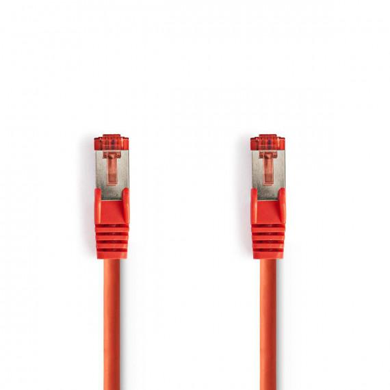 Nedis Câble Réseau Cat 6 S/FTP RJ45 Mâle - RJ45 Mâle 0,15 m Touche rouge