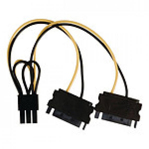 Nedis Nedis Adaptateur d'alimentation 2x SATA vers PCI-E 6 Broches