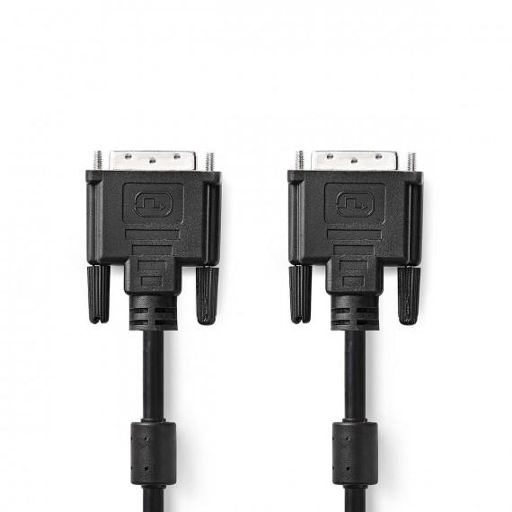 Nedis Câble DVI DVI-D Mâle à 24 + 1 Broches - DVI-D Mâle à 24 + 1 Broches 2,0 m Noir