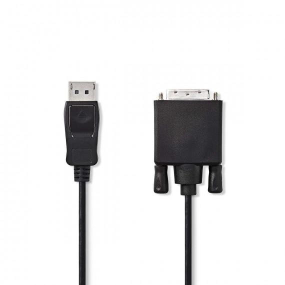 Nedis Câble DisplayPort vers DVI DisplayPort Mâle - DVI-D Mâle à 24 + 1 Broches 2,0 m Noir