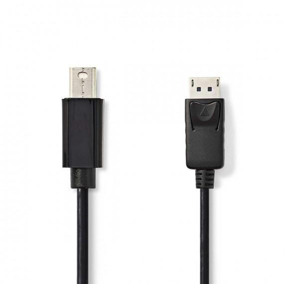 Nedis Câble Mini DisplayPort Mini DisplayPort Mâle - DisplayPort Mâle 2,0 m Noir
