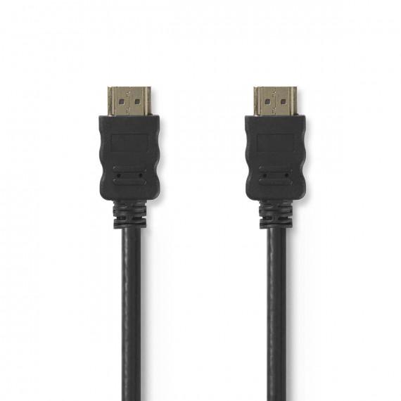 Nedis Câble HDMI™ Haute Vitesse avec Ethernet Connecteur HDMI - Connecteur HDMI 0,5 m Noir