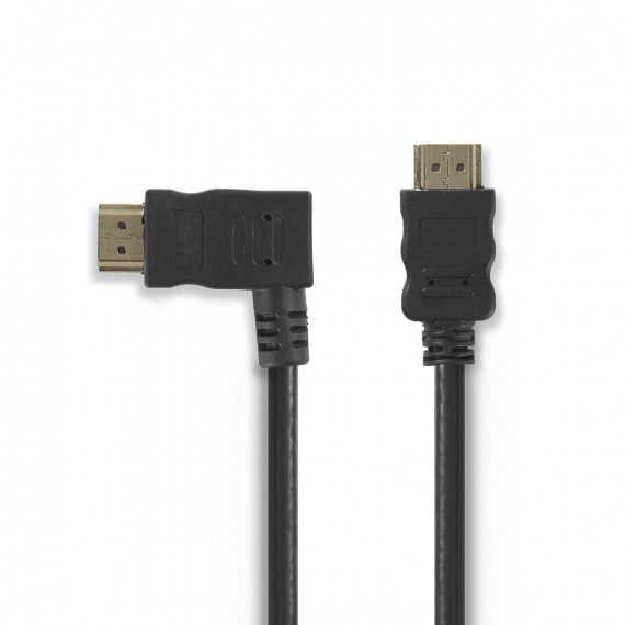 Nedis Câble HDMI™ Haute Vitesse avec Ethernet Connecteur HDMI - Connecteur HDMI Coudé vers la Gauche 1,5 m Noir