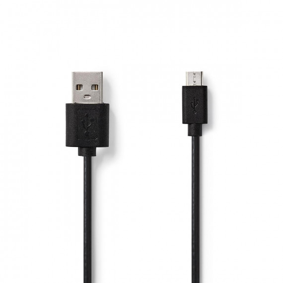Nedis Câble USB 2.0 A Mâle - Micro B Mâle 2,0 m Noir
