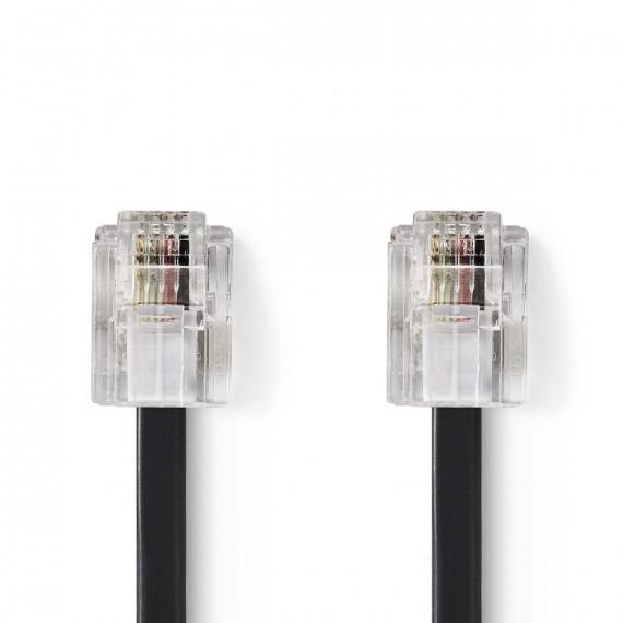 Nedis Câble de Télécommunications RJ11 Mâle - RJ11 Mâle 5,0 m Noir