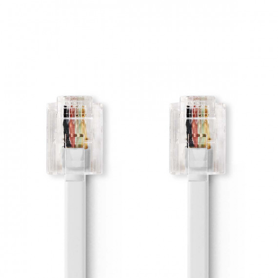 Nedis Câble de Télécommunications RJ11 Mâle - RJ11 Mâle 5,0 m Blanc