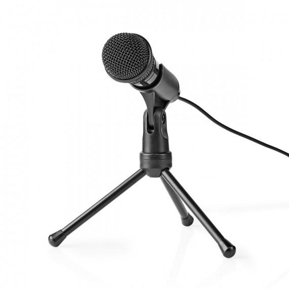 Nedis Nedis Microphone filaire avec bouton marche/arrêt et Tripod 3,5 mm