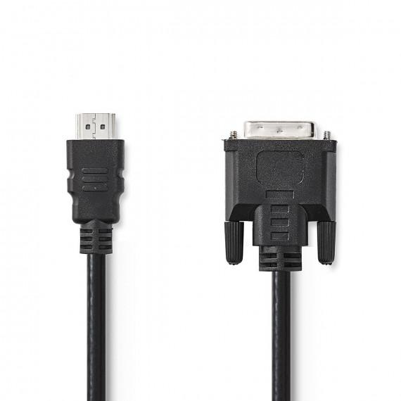 Nedis Câble HDMI™ vers DVI Connecteur HDMI™ DVI Mâle à 24 + 1 Broches 2,0 m Noir
