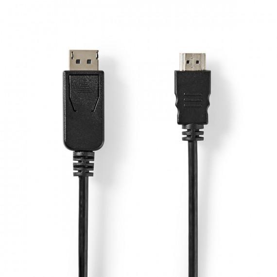 Nedis Câble DisplayPort vers HDMI™ DisplayPort Mâle Connecteur HDMI™ 3,0 m Noir