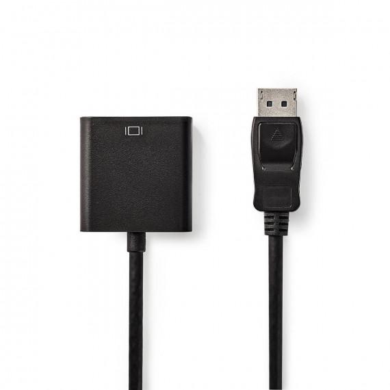 Nedis Câble DisplayPort - VGA DisplayPort Mâle - VGA Femelle 0,2 m Noir