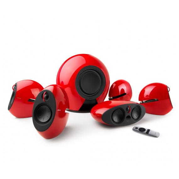 Edifier Edifier e255 Luna E Rouge - Ensemble home cinéma sans fil 5.1 Dolby Digital / DTS